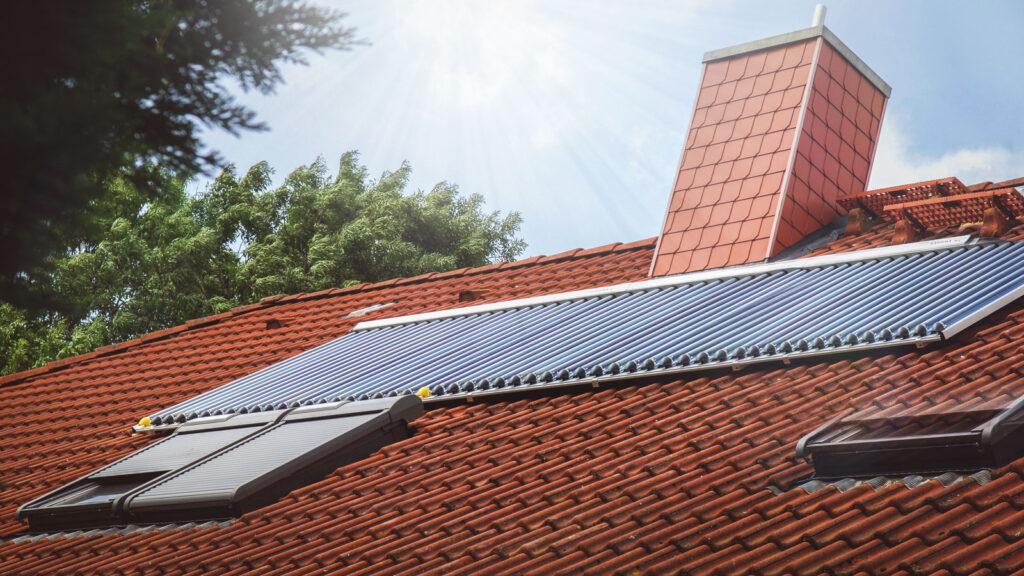 Sonnenkollektor Vakuum-Röhrenkollektor